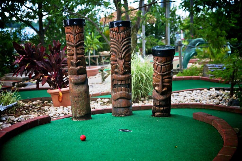 Outdoor mini golf masks