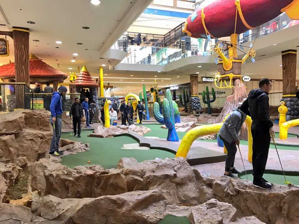 Visitors in Professor WEM's Adventure Golf