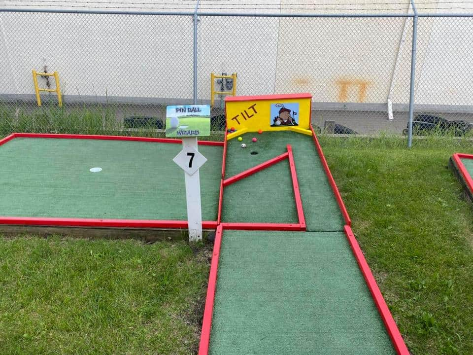 Minigolf fairways in St. Albert Bowling & Rec Centre